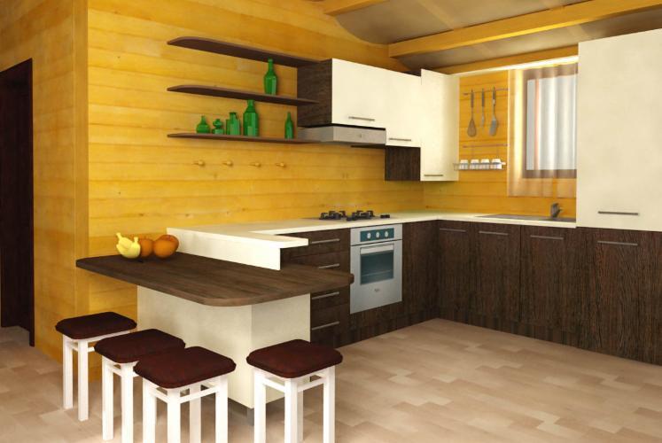 Casa de locuit din structura de lemn masiv