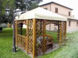 Garden Products - Pine (Pinus sylvestris) - Redwood, Kiosk - Gazebo