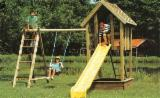ISO-9000 Certified Garden Products - ISO-9000 Spruce (Picea Abies) - Whitewood Children Games - Swings from Romania