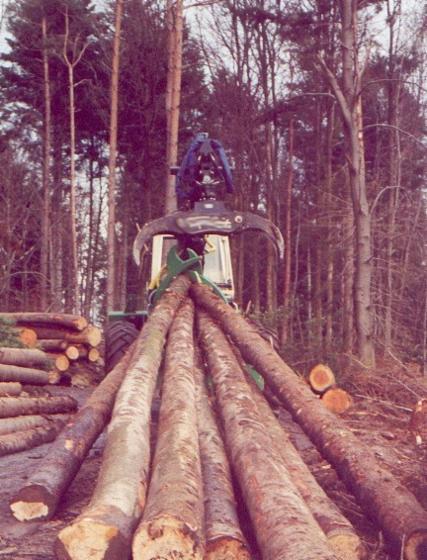 伐木机器配件, clam bunk