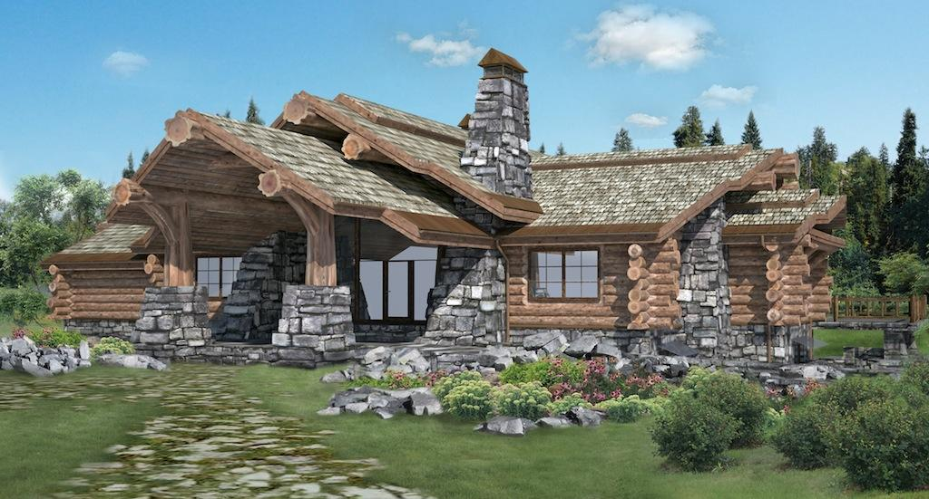 Handcrafted log homes cabins canadian log homes chalet for Canadian log cabins