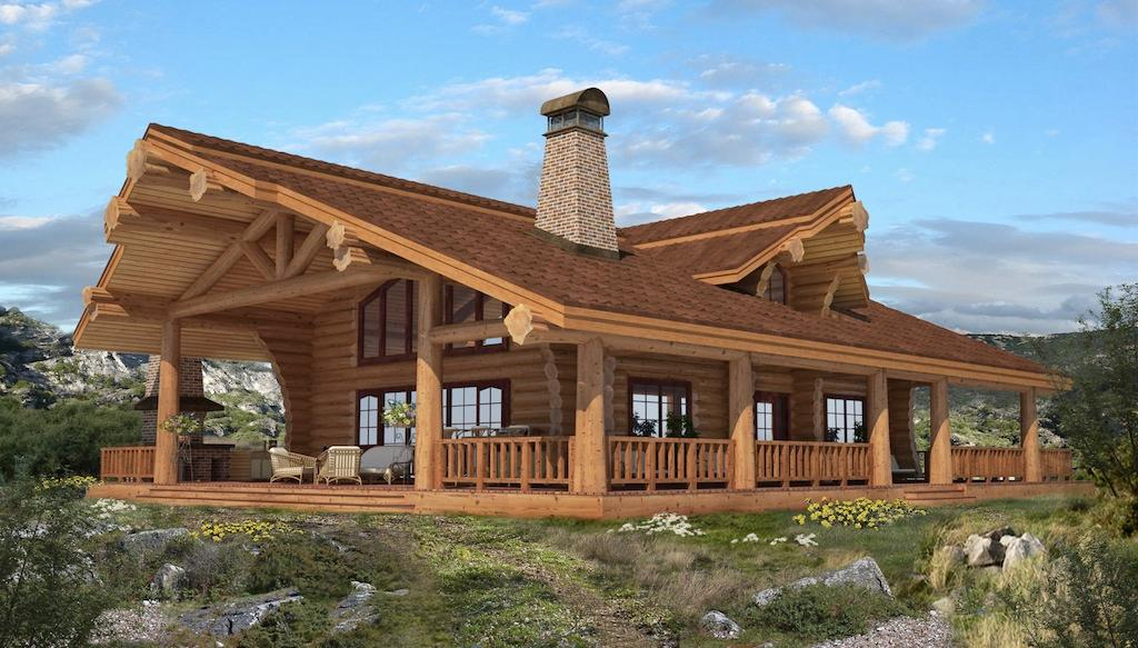 Handcrafted log homes cabins canadian log homes chalet for Log cabin plans canada
