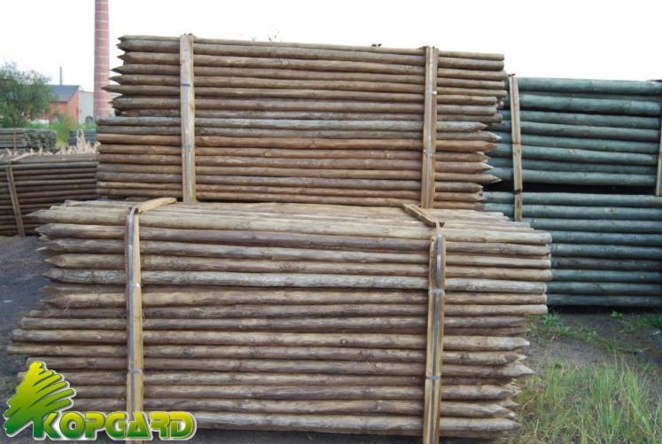 Debarked-poles--anti-hail-system--pine-poles