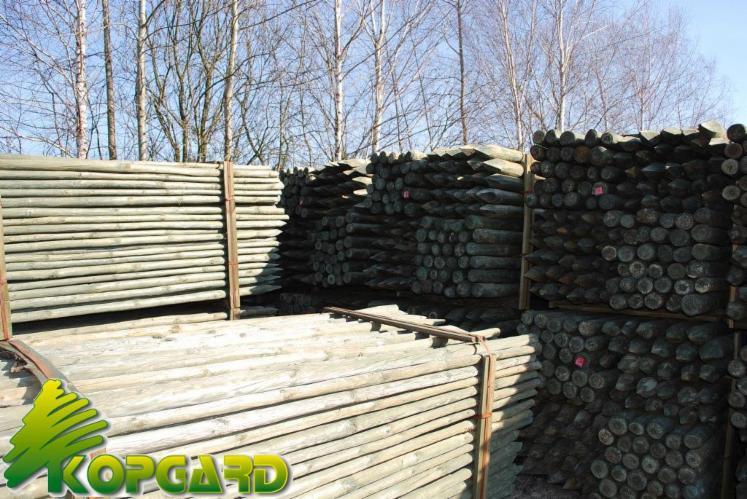 Piquet rondin demi rondin bois ronds palissade bois 3 5x250 - Tuteur bois brico depot ...