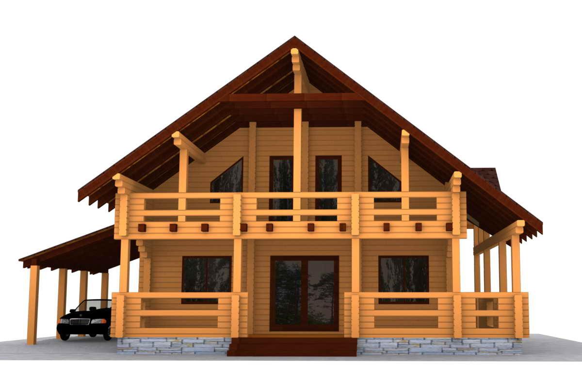 Дерев яні будинки з будівельного