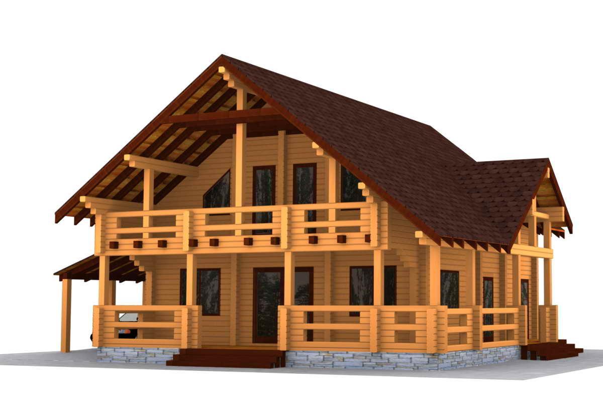Casa de troncos escuadrados pino silvestre pinus - Casas de madera en alcorcon ...