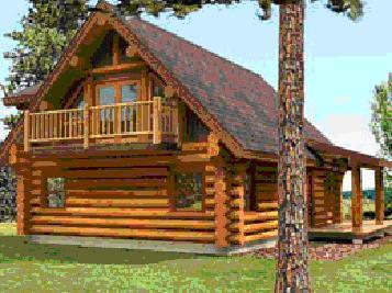Casa di tronchi canadese cirmolo pino cembra pinus for Case in legno polonia